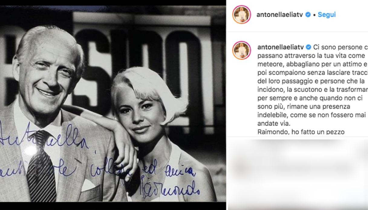 Antonella Elia e Raimondo Vianello Instagram