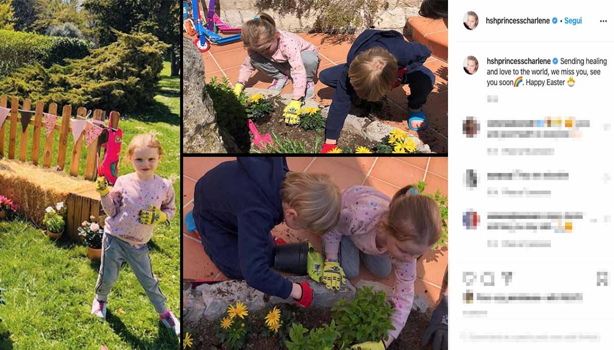 Charlene di Monaco, le foto di Pasqua