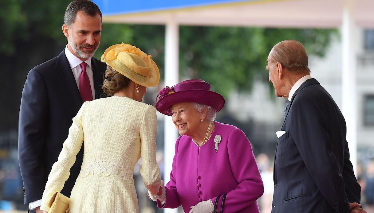 Letizia di Spagna e la Regina Elisabetta