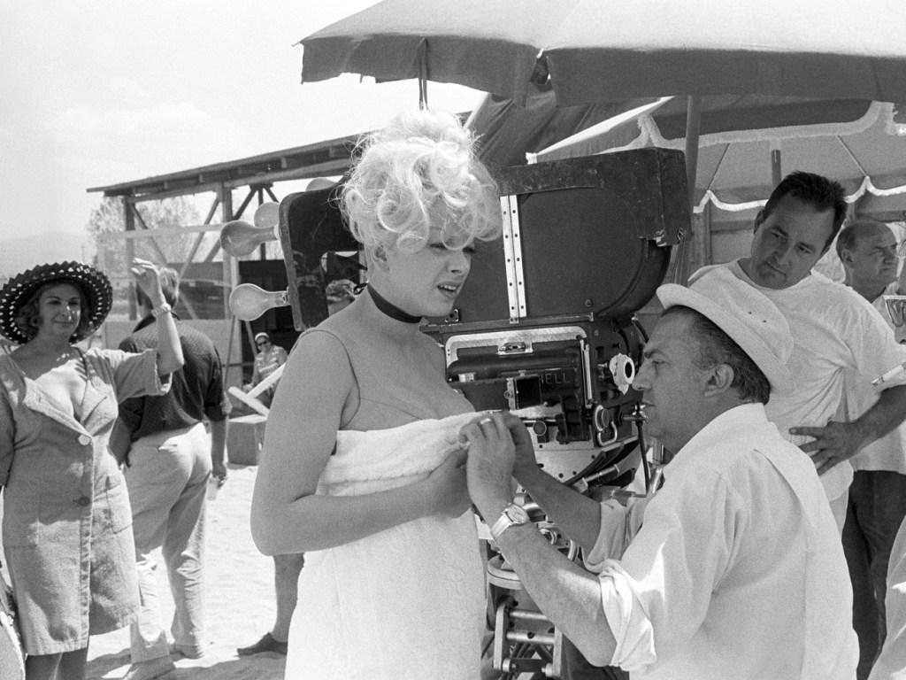 Sandra Milo e Federico Fellini