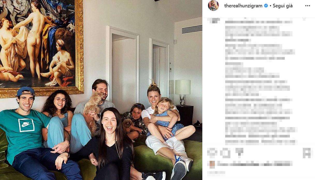 Michelle Hunziker e famiglia