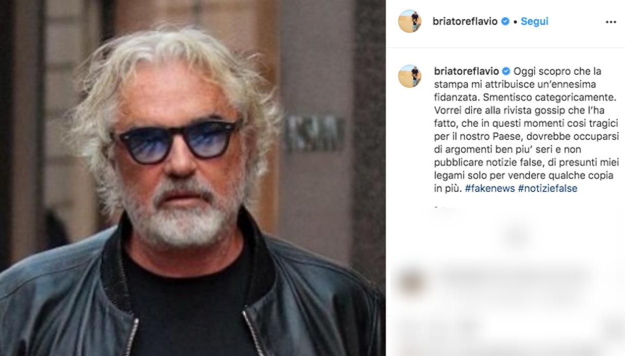 Il post di Flavio Briatore Instagram