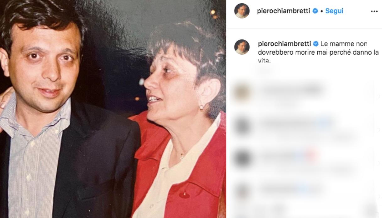 Piero Chiambretti ricorda la madre su Instagram