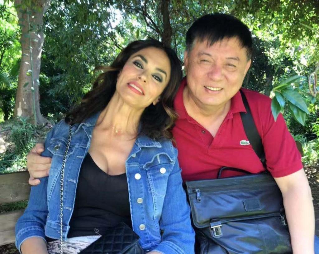 Mr Fang Li e Maria Grazia Cucinotta