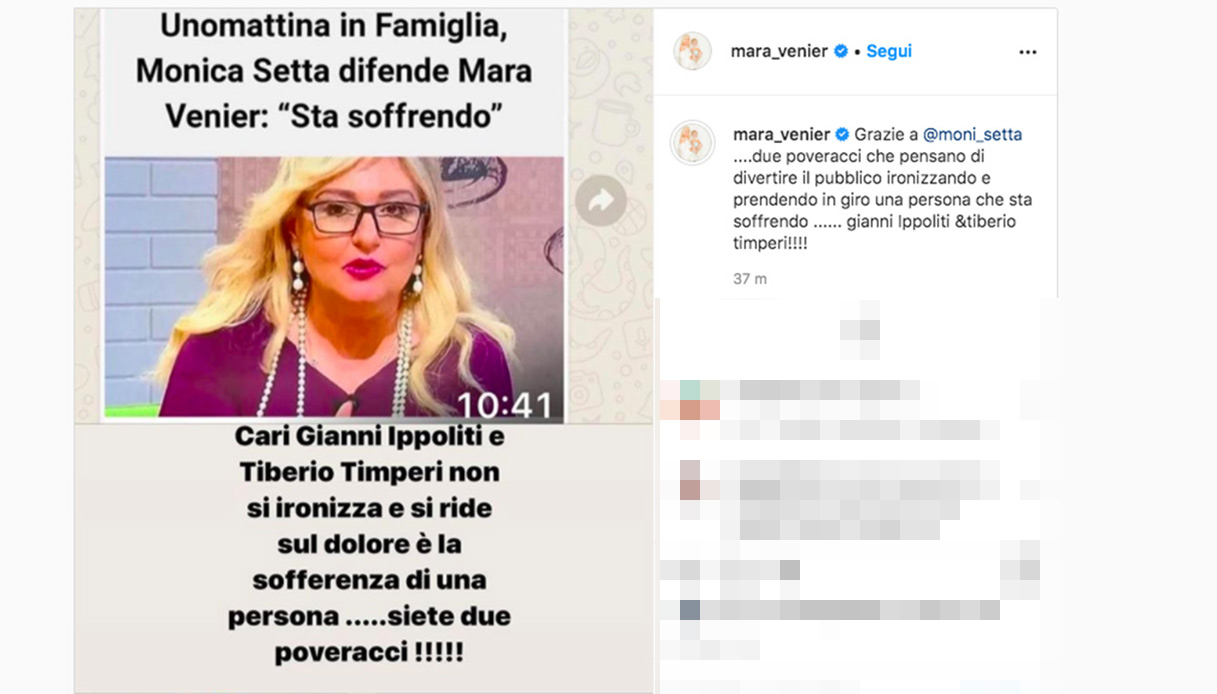 Il post eliminato da Mara Venier
