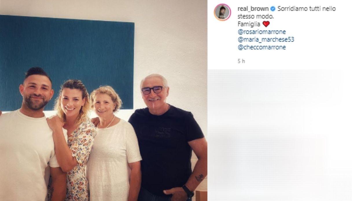 Emma Marrone e la sua famiglia
