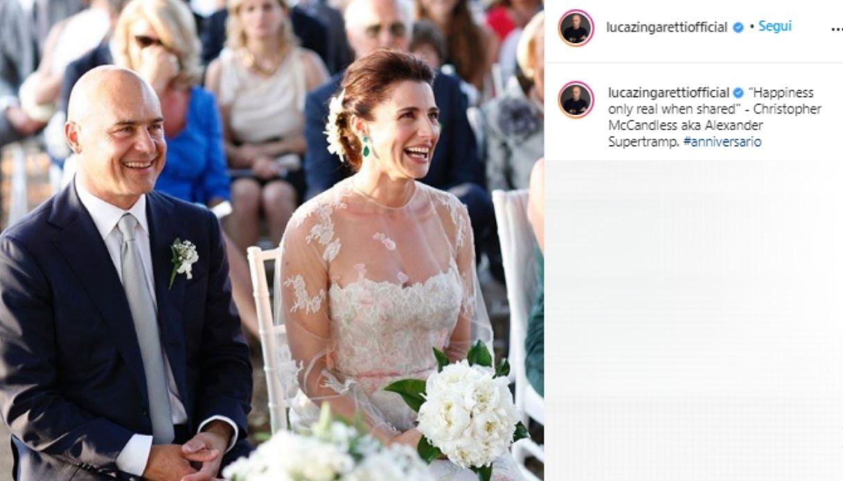 Luca Zingaretti e Luisa Ranieri il giorno del loro matrimonio