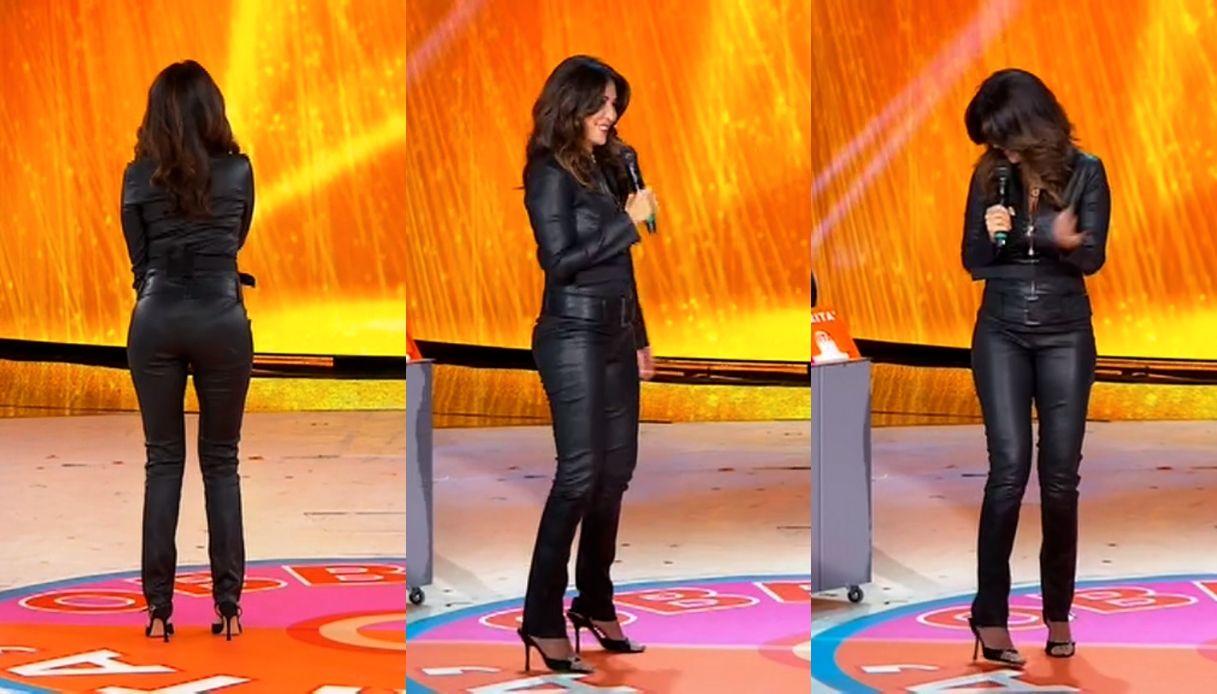 Amici Speciali |  Sabrina Ferilli come Catwoman |  il look in pelle per la finale
