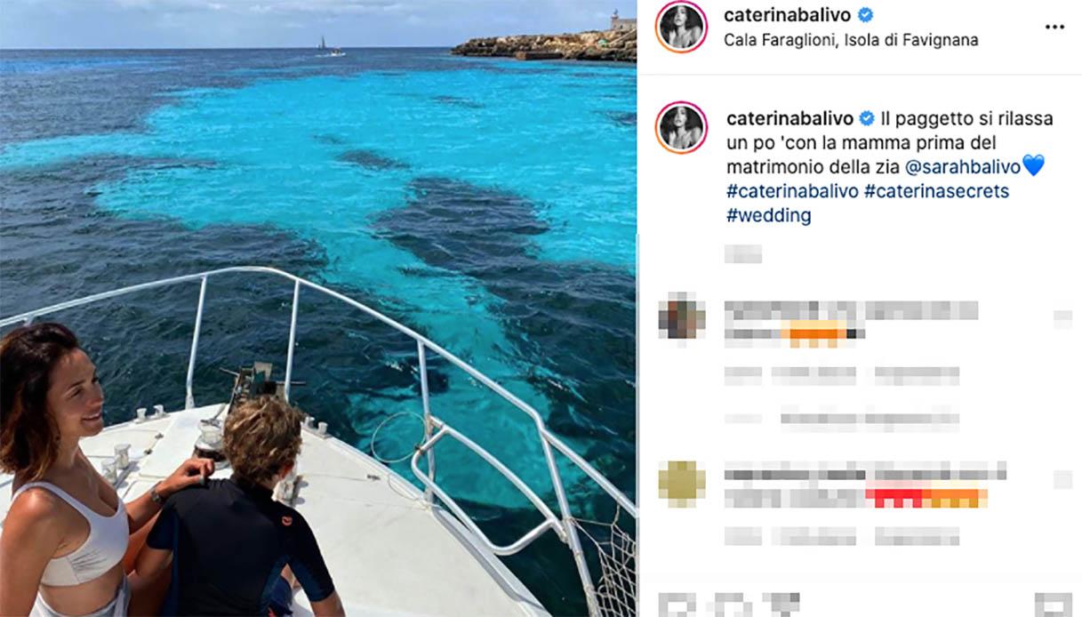 Caterina Balivo a Favignana