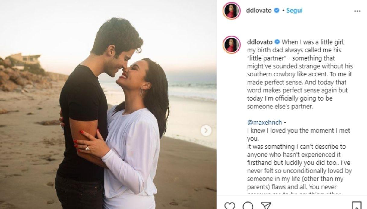 Demi Lovato e il futuro marito Max Ehrich
