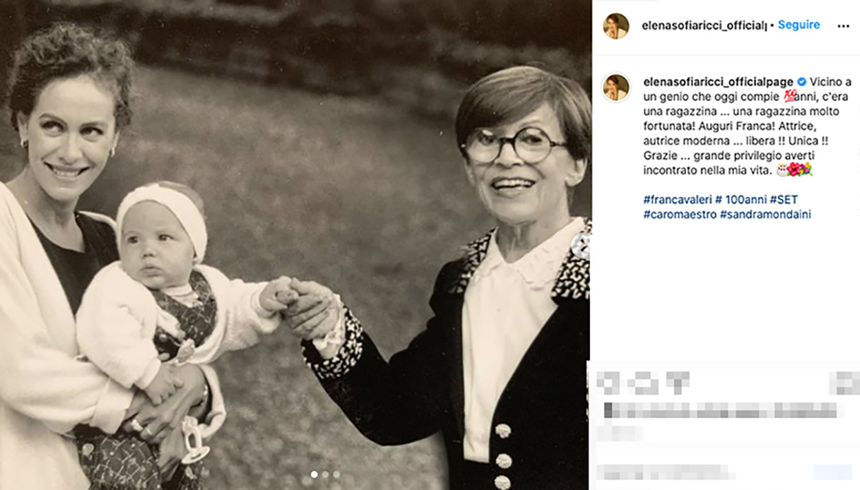 Elena Sofia Ricci su Instagram