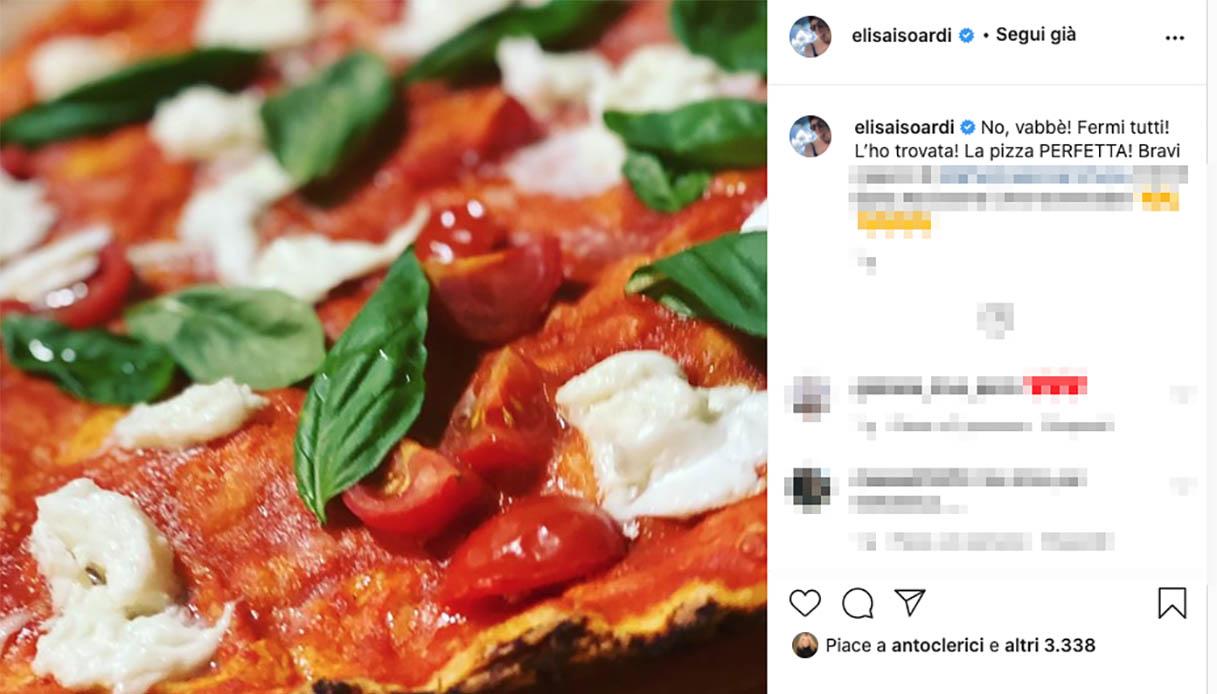 Il post di Elisa Isoardi su Instagram