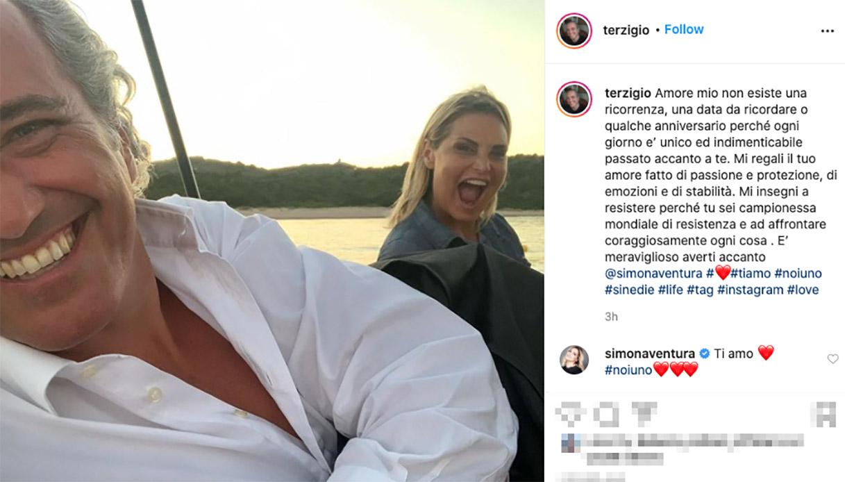 La dedica di Giovanni Terzi su Instagram