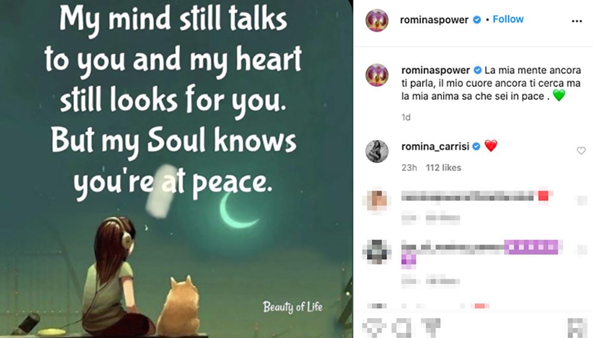 Le parole di Romina Power su Instagram