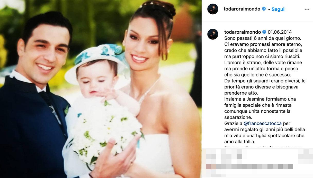 La dedica di Todaro alla moglie
