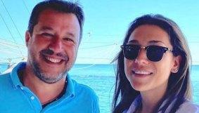 Francesca Verdini al mare con Matteo Salvini