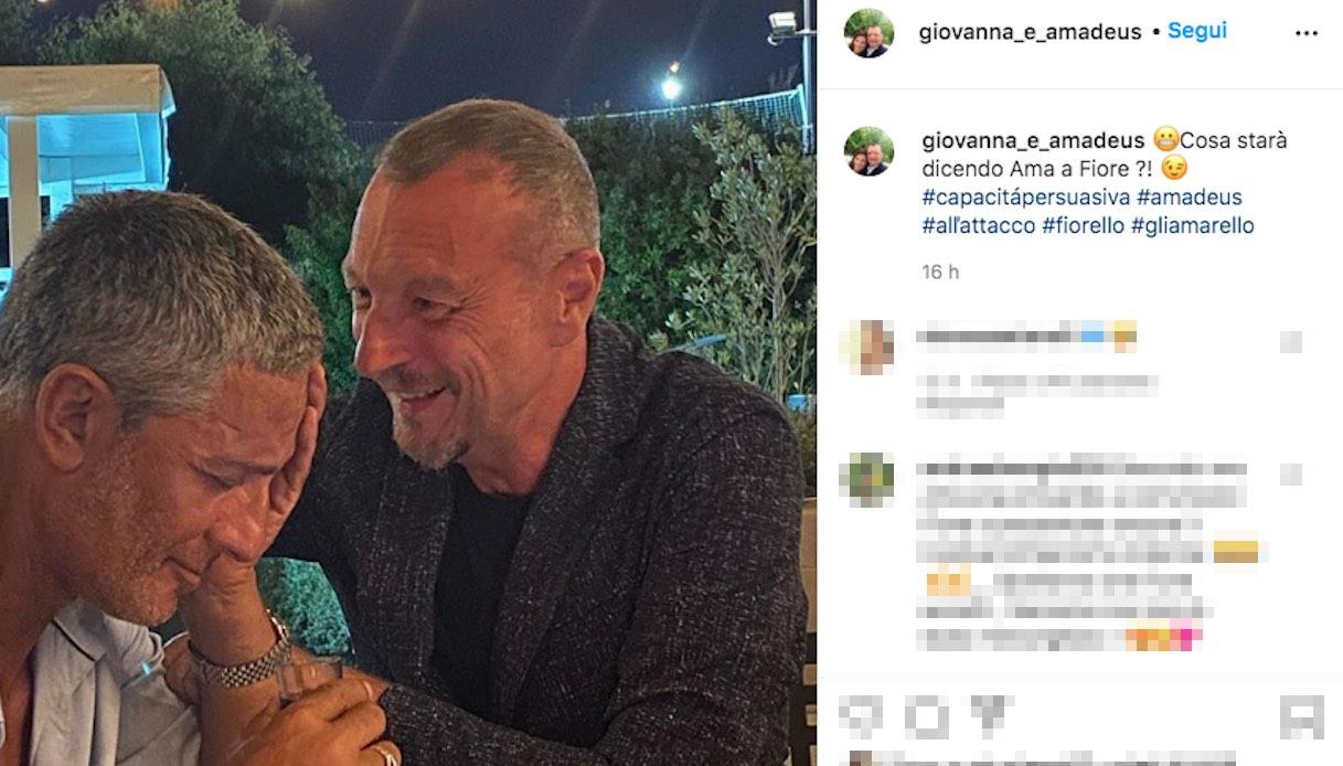 Amadeus e Fiorello insieme su Instagram in attesa di Sanremo 2021