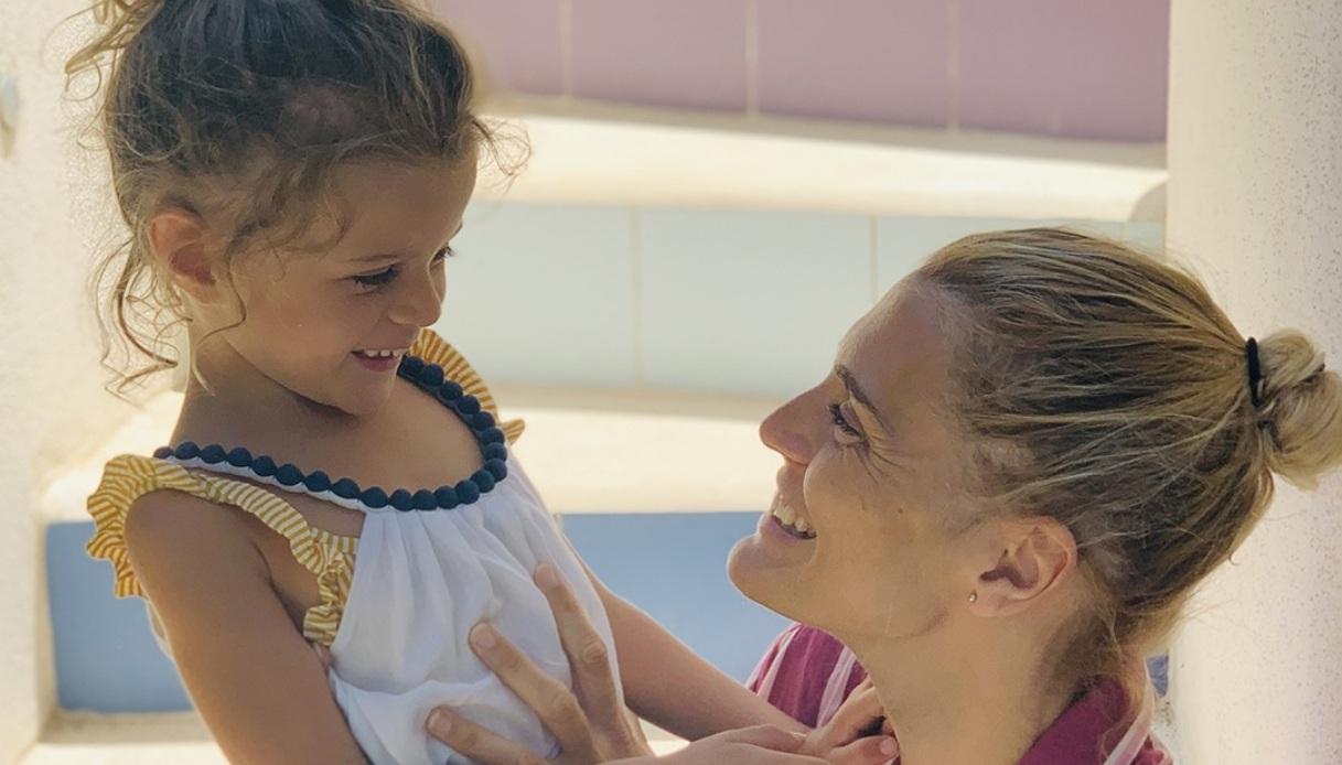 Claudia Zanella con la figlia Penelope