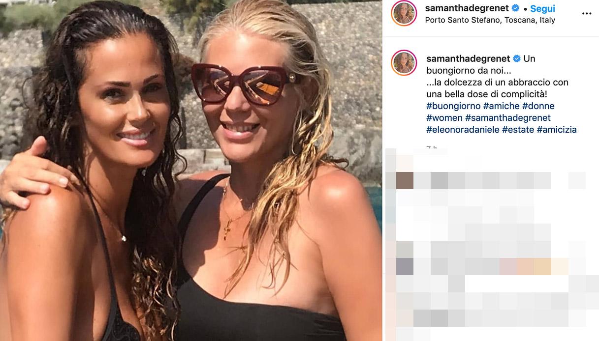Eleonora Daniele e Samantha De Grenet in vacanza insieme. Così celebrano la loro amicizia