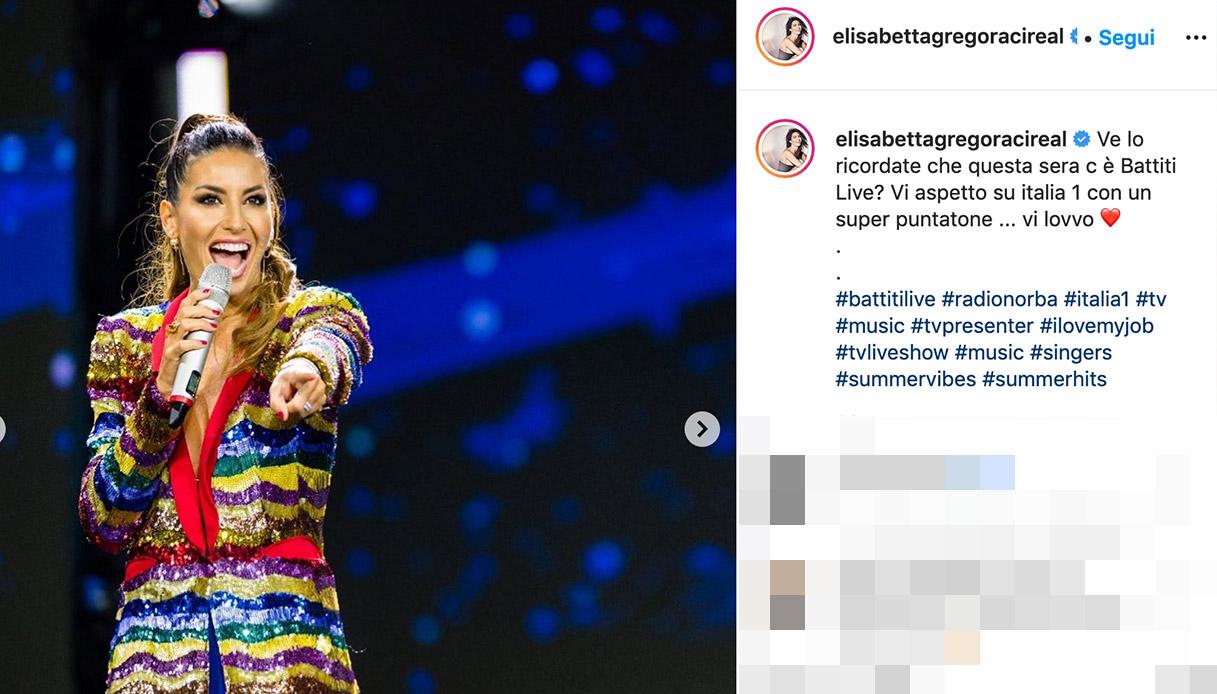 Battiti Live, Elisabetta Gregoraci illumina il palco con il suo look glamour