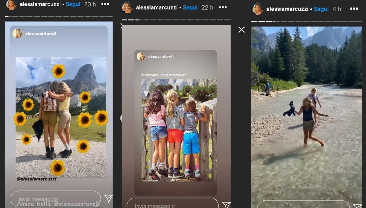 Alessia Marcuzzi e Elena Santarelli insieme in montagna: le foto incantano tutti