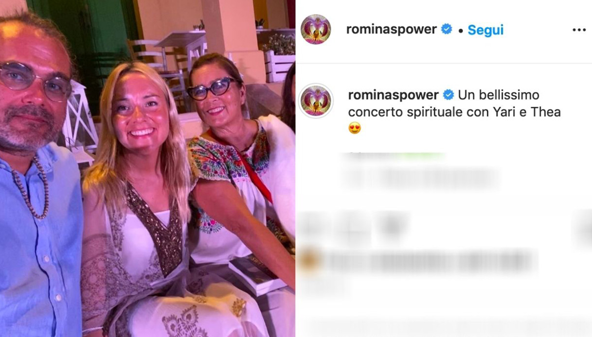 Romina e Yari Power con Thea Crudi
