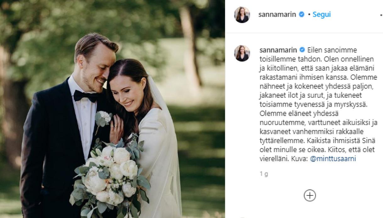 Sanna Marin e il marito