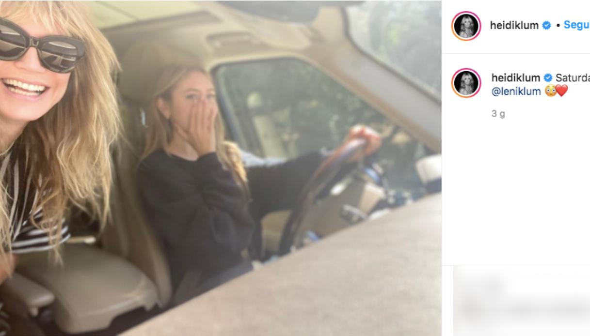 Leni, la figlia di Heidi Klum e Flavio Briatore Instagram
