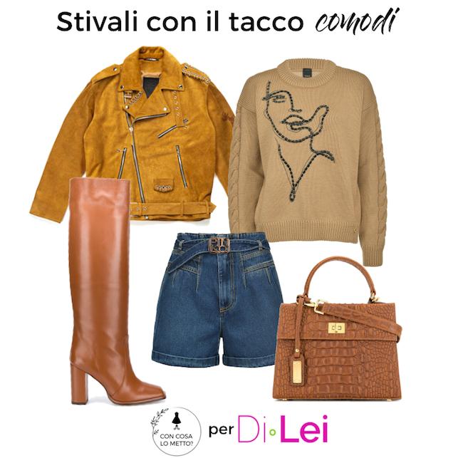 Stivali con il tacco comodi: idea di look e di modelli
