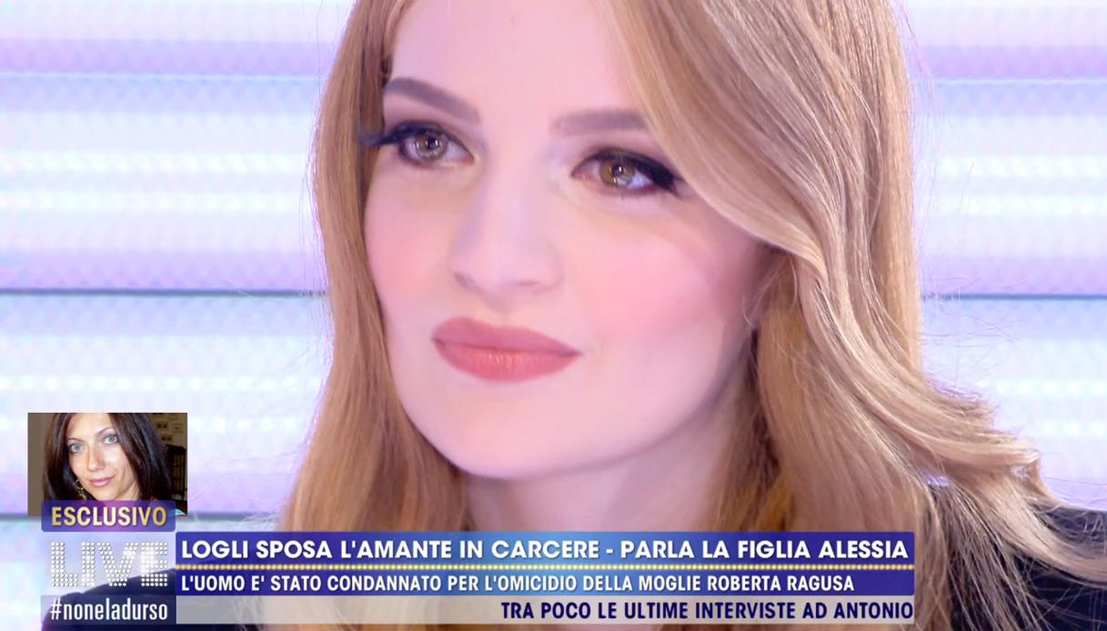 """Alessia Logli: """"Mio padre è innocente e sono felice che sposi Sara"""""""