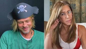 Brad Pitt e Jennifer Aniston, show scottante sullo schermo