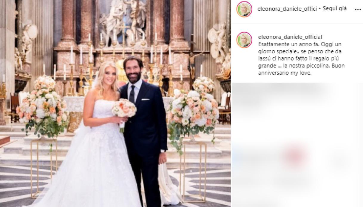 Elenora Daniele, la dedica per l'anniversario al marito Giulio Tassoni