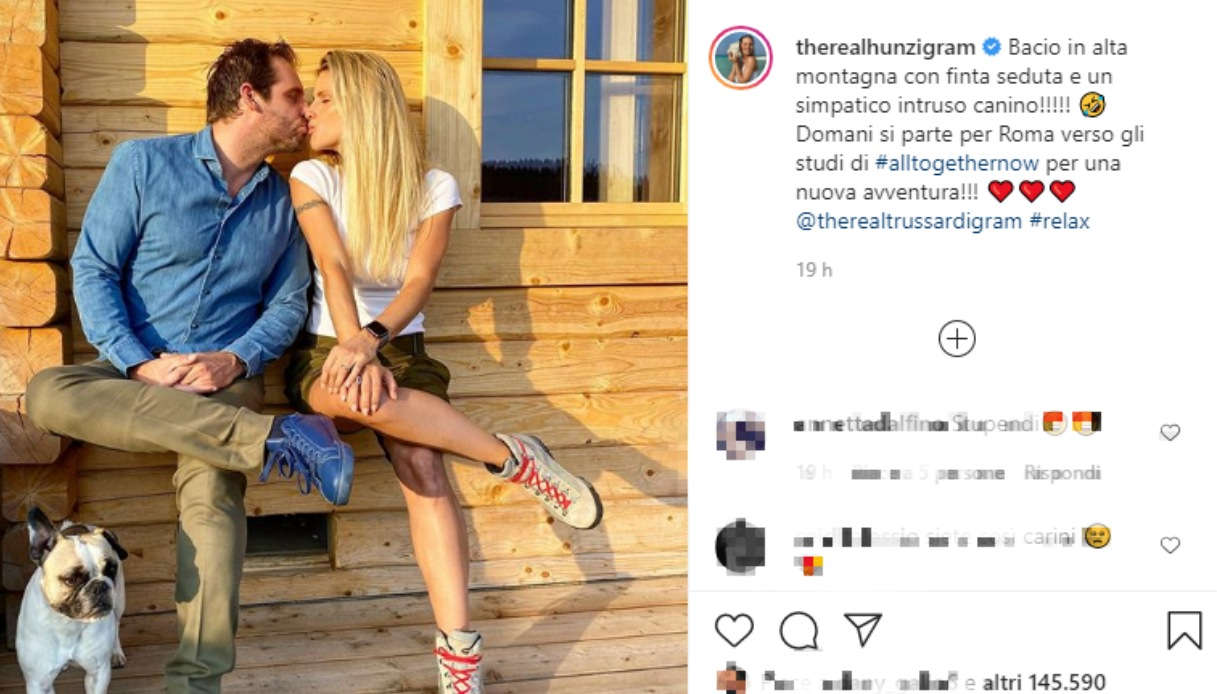 Michelle Hunziker Tommaso Trussardi