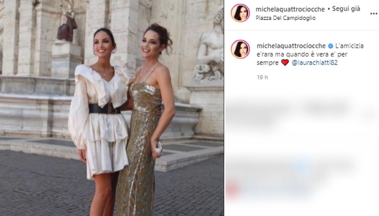 Michela Quattrociocche e Laura Chiatti