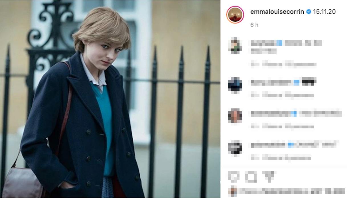Lady Diana, la somiglianza con l'attrice Emma Corrin è impressionante