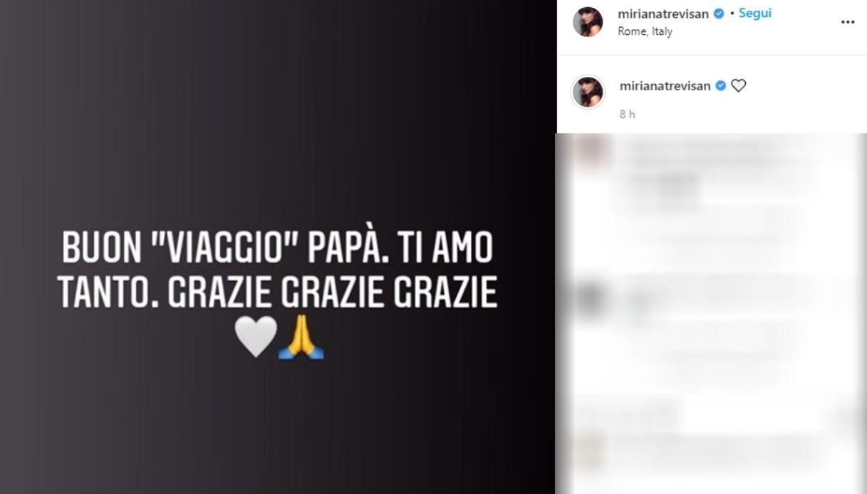Miriana Trevisan, lutto per la showgirl. L'addio al padre su Instagram