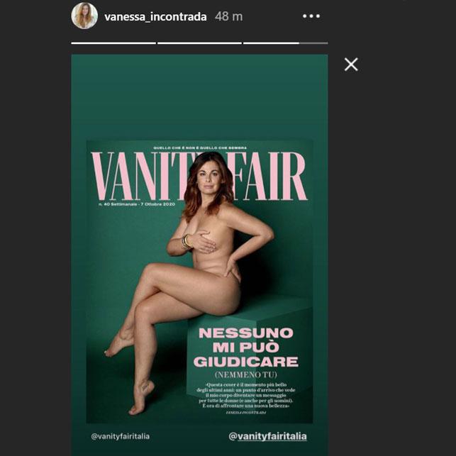 Vanessa Incontrada senza veli in copertina: una lezione contro il bullismo