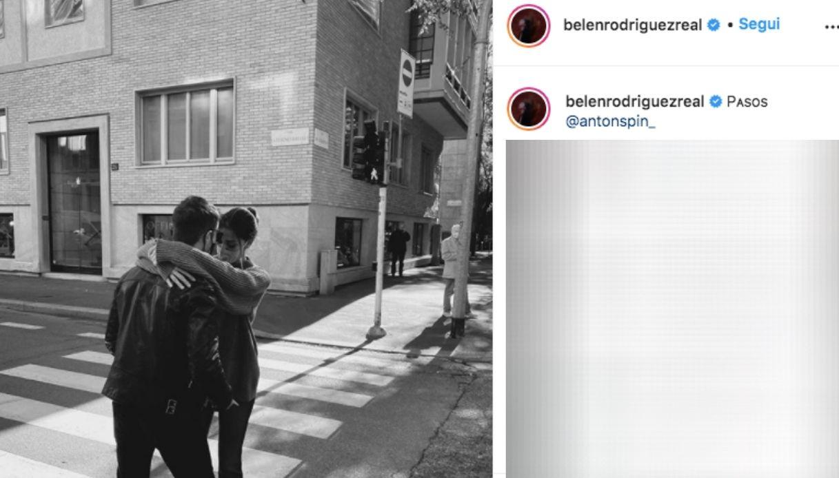 Belen Rodriguez e Antonino Instagram