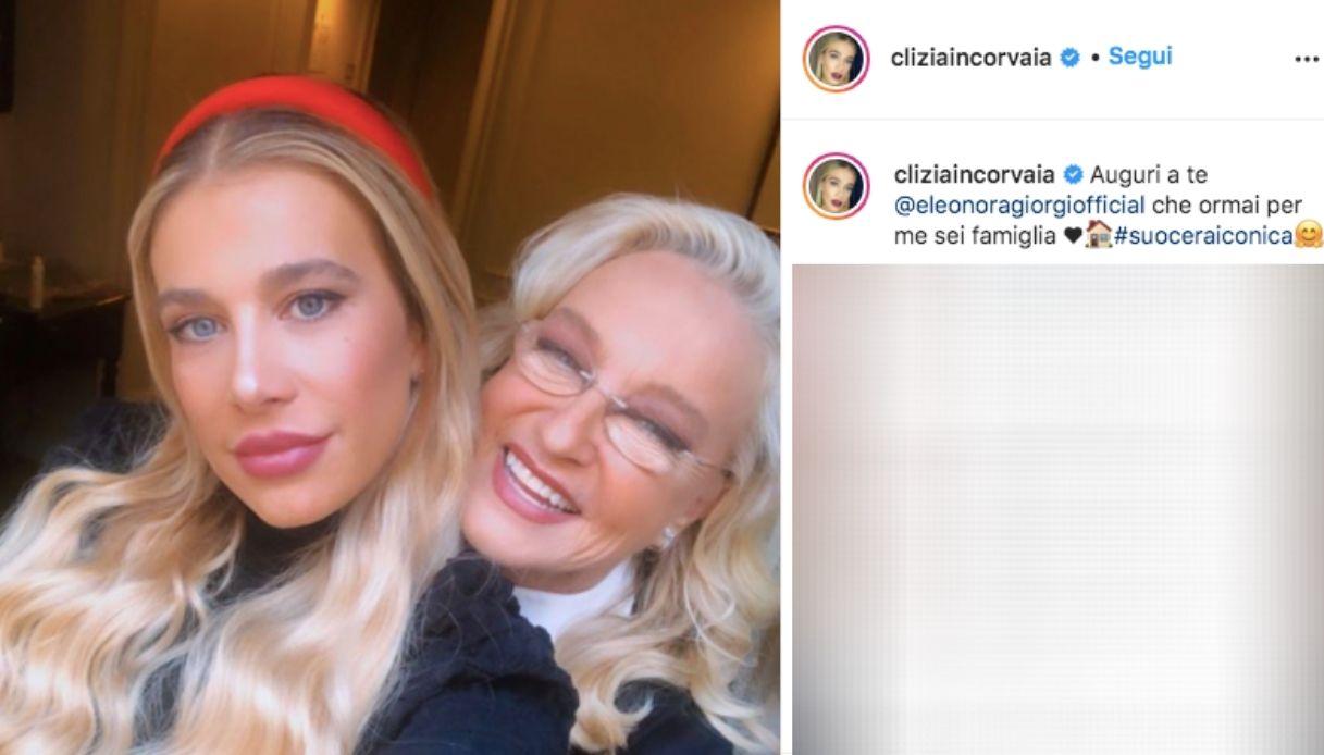 Clizia Incorvaia ed Eleonora Giorgi Instagram