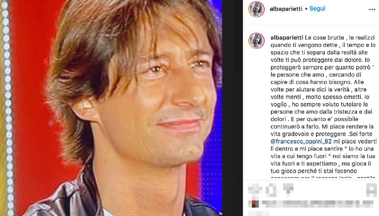 Il post di Alba Parietti