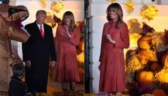 Melania Trump, il cappotto per Halloween è un incanto
