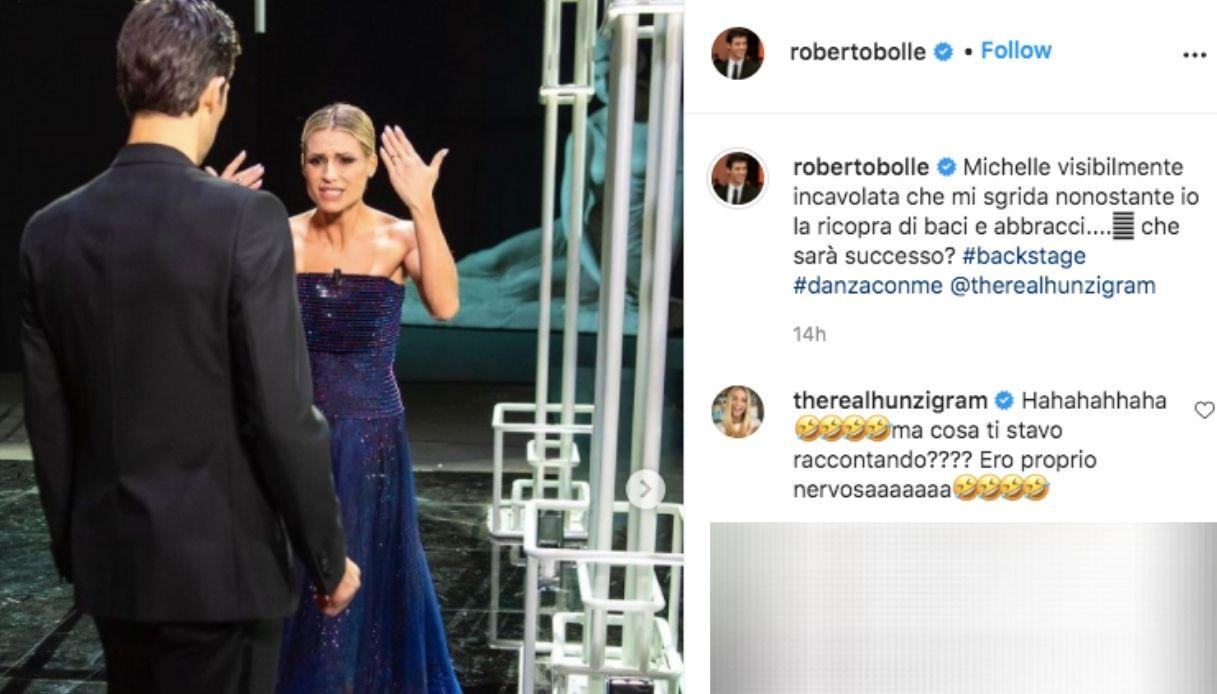 Michelle Hunziker e Roberto Bolle