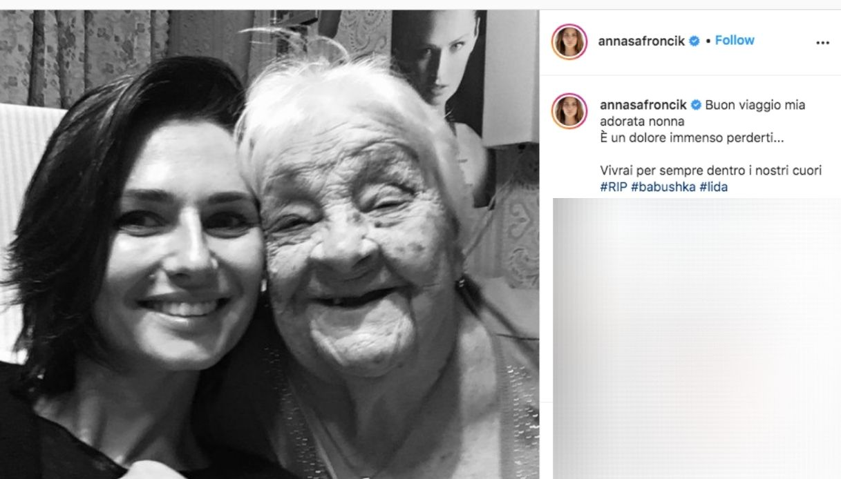 Anna Safroncik, addio alla nonna