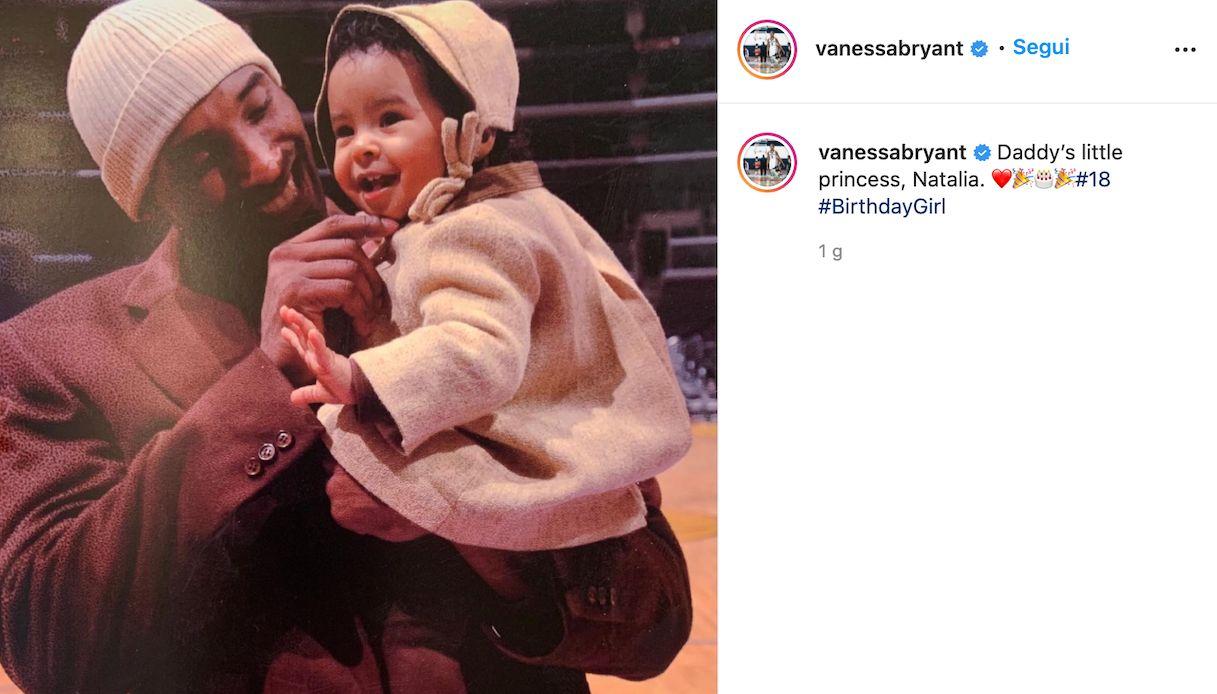 Natalia Bryant compie 18 anni, la foto con papà Kobe