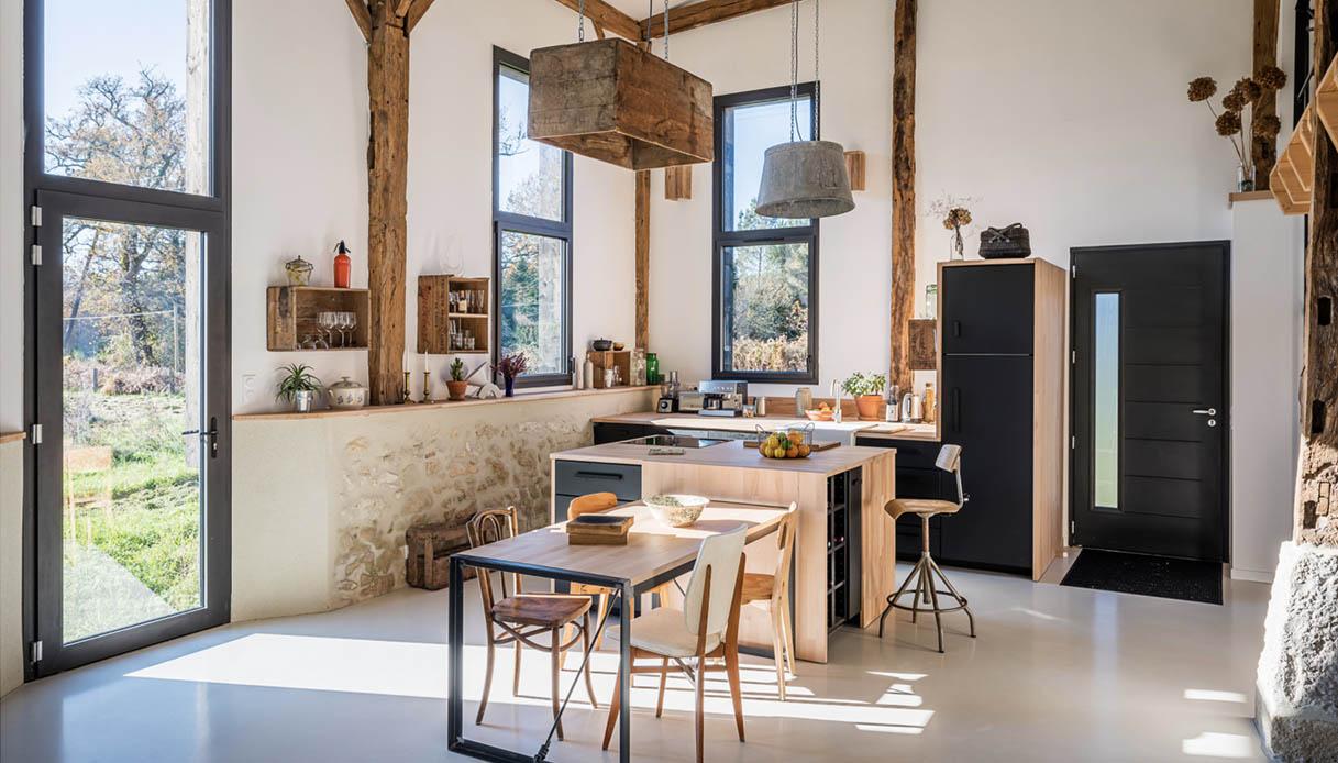 Casa cucina rustica