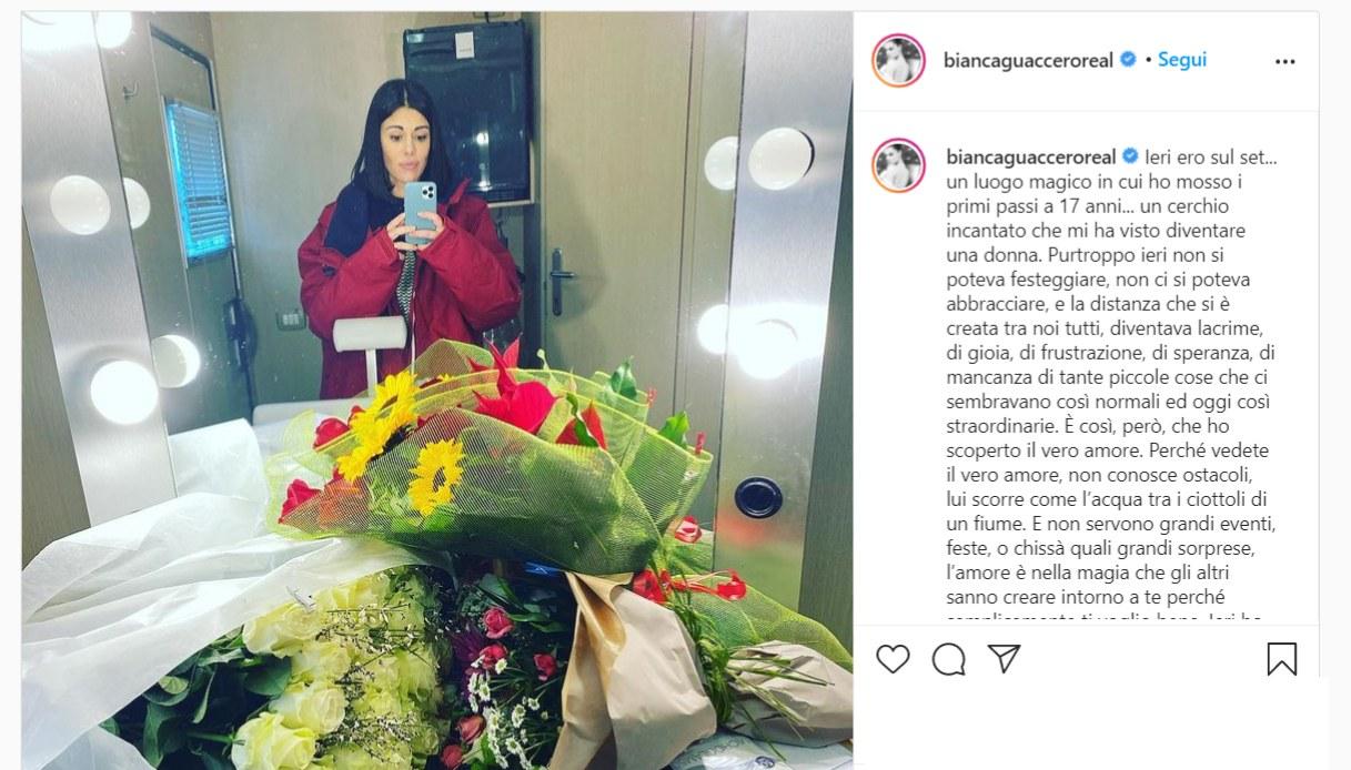 Bianca Guaccero, il post su Instagram
