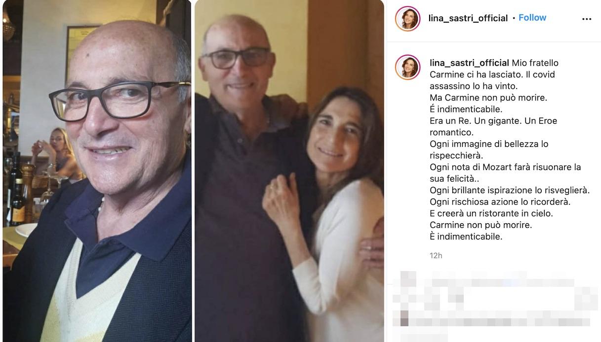 Lina Sastri col fratello Carmine