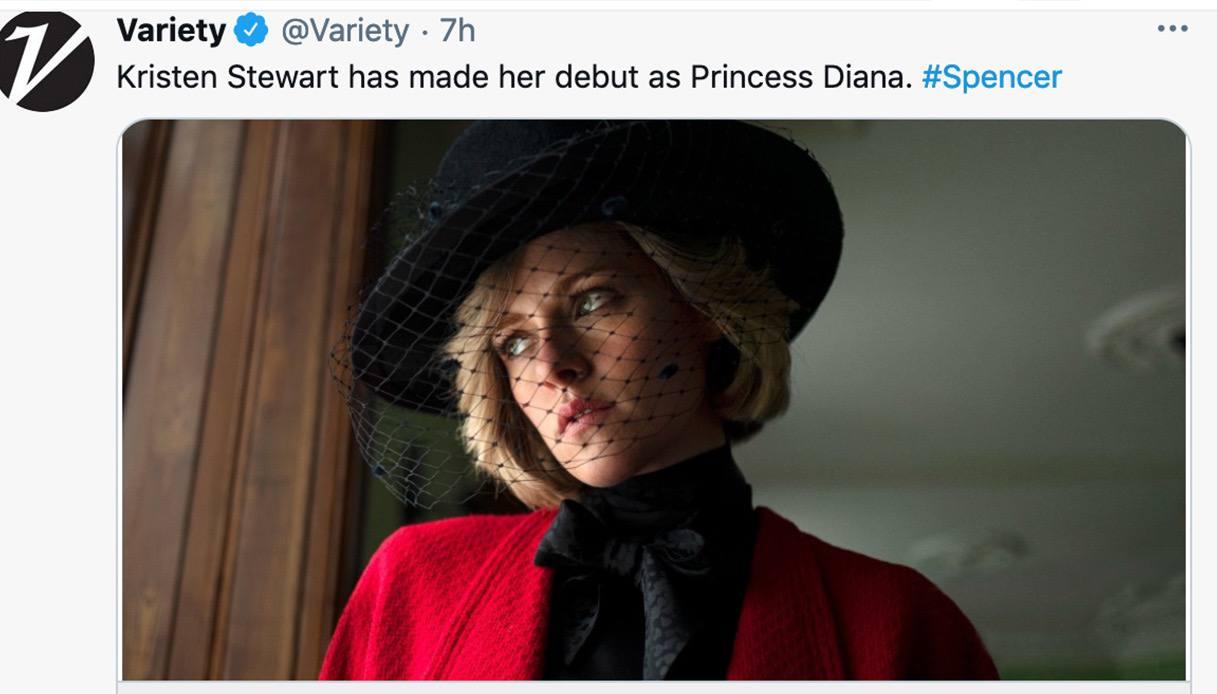 Kristen Stewart interpreta Lady Diana in Spencer