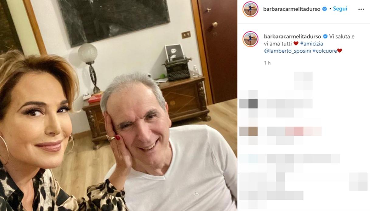 Barbara D'Urso e Lamberto Sposini