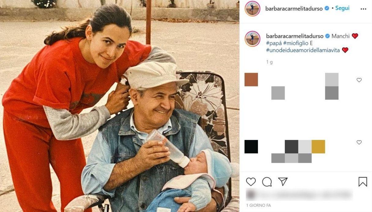 Barbara D'Urso, la foto su Instagram con suo papà